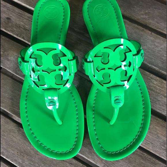5601072c7088 Tory Burch Green Fluorescent Miller Sandal 8.5. M 5b80762425457af0af8fae55